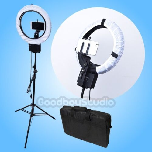 40W Ring Lamp Light + Diffuser + Camera Phone Holder Clamp + 2M Stand + Bag 220V