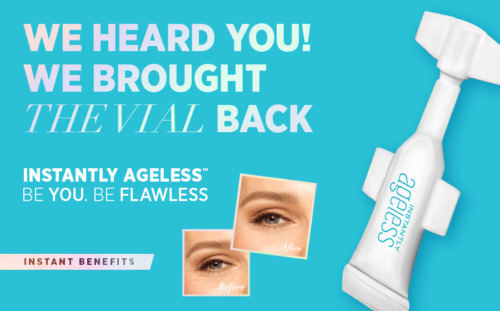 GENUINE ✅ JEUNESSE INSTANTLY AGELESS™ •NEW• RESEALABLE VIAL .6ML✅FASTFREEPOST📮