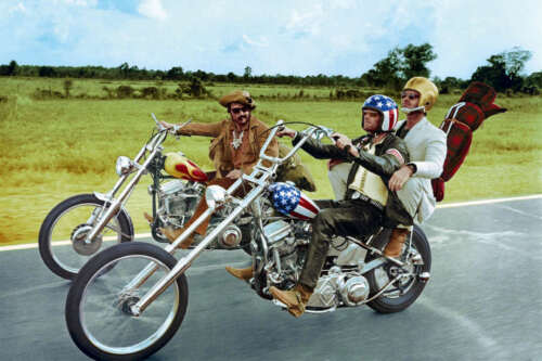 EASY RIDER FONDA HOPPER NICHOLSON ON HARLEY MOTORCYCLE POSTER PRINT COLOR 24x36