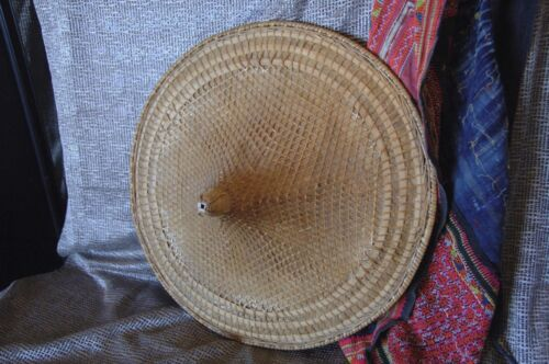 Old Chinese Rice Harvest Hat Hainan Provence …beautiful accent piece