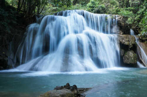 WATERFALL LANDSCAPE POSTER PRINT STYLE W 24x36 HI RES 9 MIL PAPER