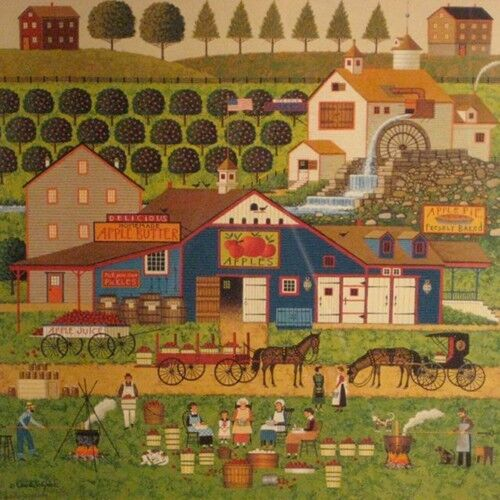 """""""Apple Butter Makers"""" by Charles Wysocki, Offset Lithograph on Paper, 130/1000"""