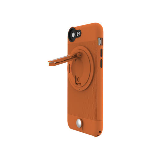 iPhone 6 Plus 6s Plus Case with stand Clip for Car Air Vent Holder [Orange]