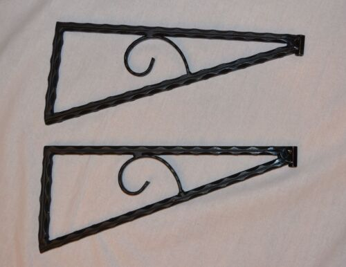 6 pcs   (3 pairs )    Wrought iron closet shelf brackets Hand Made heavy duty