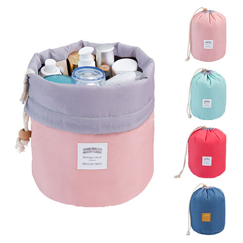 Travel Drawstring Make-Up Storage Bags Case Cosmetic Toiletry Organizer Happy
