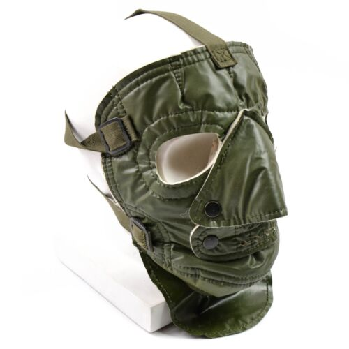 New US army cold weather face mask. Creepy scary military mask. Green US mask