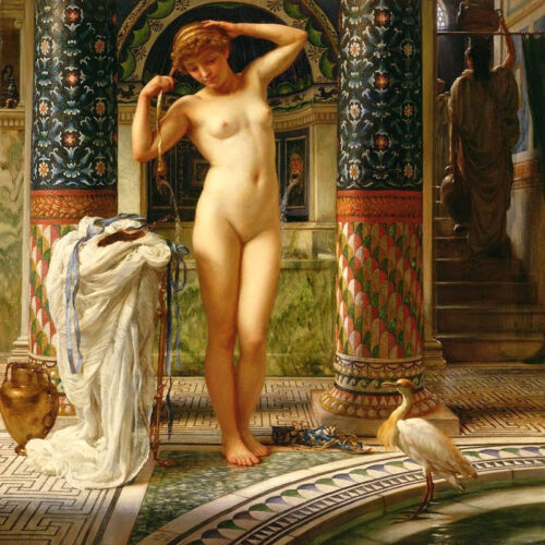 """Canvas Print Picture Oil Painting Classical Nude girl on canvas 16""""x16"""" L748"""