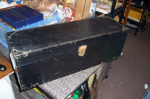 Antique Trade Tool Wood Work Box Odd One But Nice