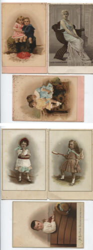 CABINET CARD LITHOGRAPHS OF CHILDREN. SET OF SIX.