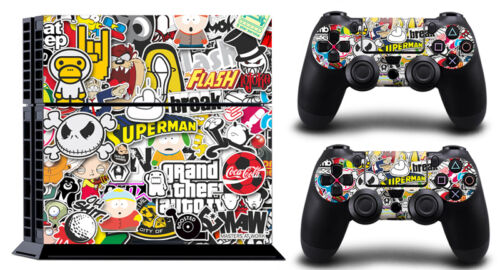 QT Funny pet cool PS4 SKIN PROTECTIVE STICKER for SONY PS4 CONSOLE CONTROLLER