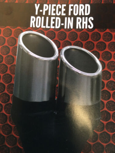 """3/"""" 57mm 76mm In CHROME EXHAUST TIP Straight Cut Rolled In Out  2 1//4/"""""""
