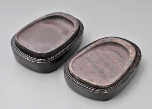 Chinese Vintage INK STONE 2pcs  / Old Antique