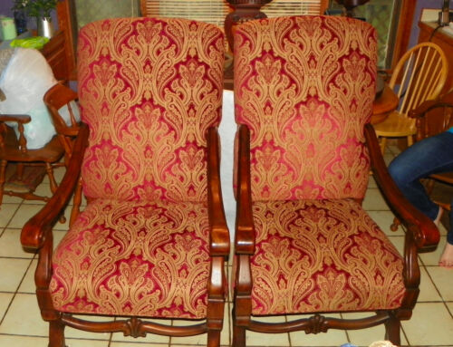 Pair of Walnut Armchairs / Parlor Chairs  (AC153)