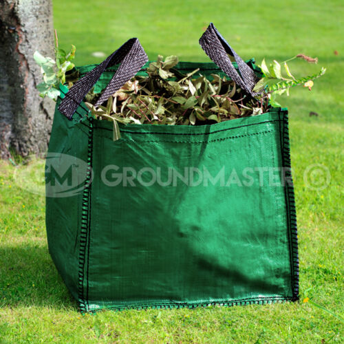 GroundMaster 120L Garden Waste Bags - Heavy Duty Large Refuse Sacks with Handles <br/> ✓ HEAVY DUTY ✓ LARGE CAPACITY ✓ REINFORCED STITCHING