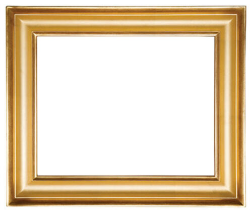 8 x 10   Picture Frame Hand Applied Gold Leaf Gallery Style Frame