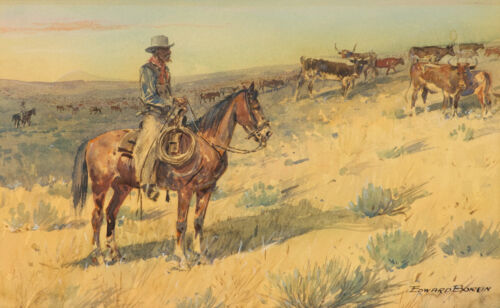 Cattle Drive  by Edward Borein  Giclee Canvas Print Repro