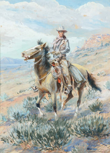 The Trail Boss Patch Hinton  by Edward Borein  Giclee Canvas Print Repro