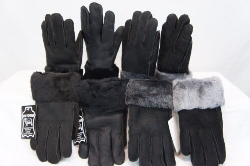 REAL GENUINE SHEEPSKIN SHEARLING LEATHER GLOVES UNISEX Fur Winter 4 Colors M-2XL