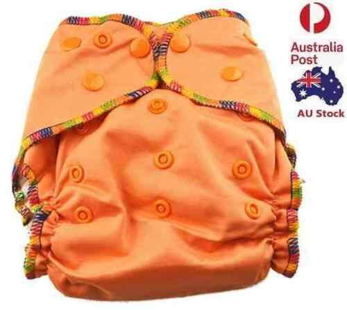 Baby Girly Orange Cloth Nappy Top Quality Modern Cloth Nappies With Free Liners