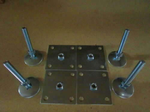 """3"""" Leg Levelers Set of 4 Heavy Duty w/ Base Plate for Arcade Game Cabinets"""