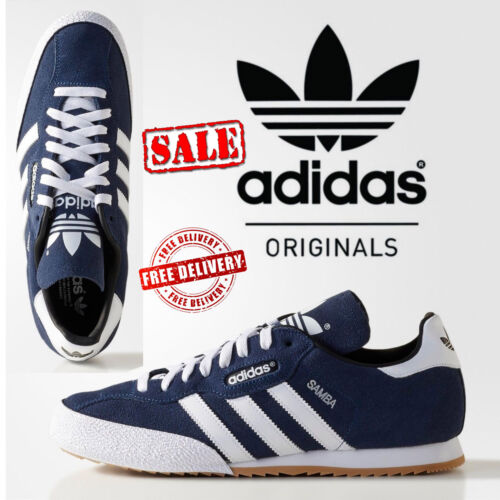 ✅24hr DELIVERY✅ADIDAS SAMBA SUPER SUEDE RETRO TRAINERS CASUAL  NAVY rrp£75