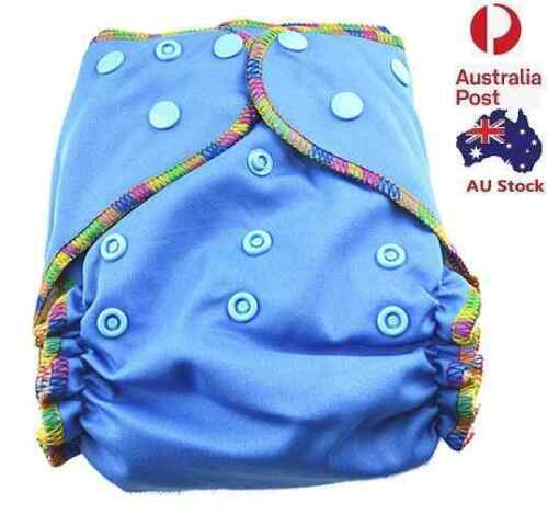 Blue Solid Colour Cloth Nappy Top Quality Modern Cloth Nappies With Free Liners