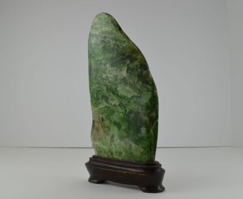 Antique Chinese JADE Scholars Rock Mountain Landscape Carving Asian