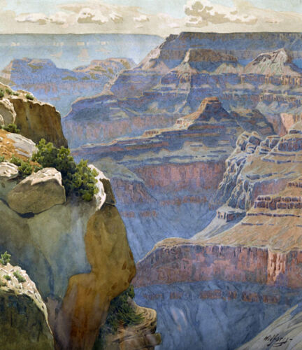 View of Hopi Point...   by Gunnar Widforss  Giclee Canvas Print Repro
