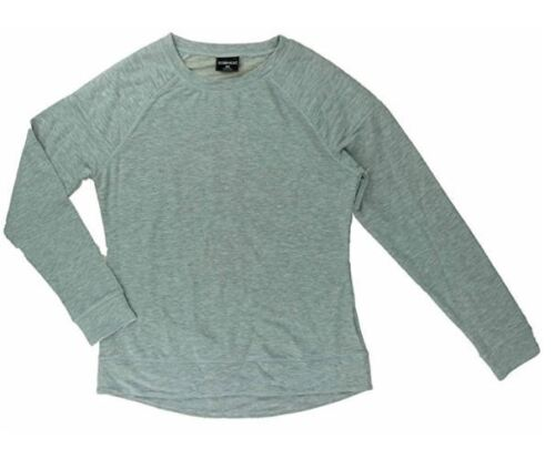 NWT 32 Degrees Heat Women's Quilted Crew Neck Fleece Pull On Top Sweater Gray XL