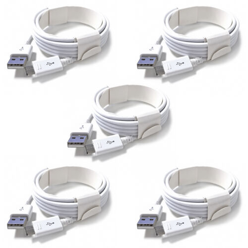 5x OEM Samsung Micro USB Cable Fast Charging Data Cord For Samsung Android LG