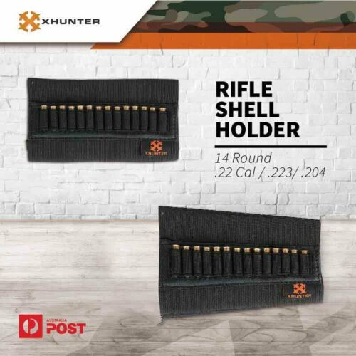High Quality .22LR 10//22 Rifle 14 Round Ammo Butt Stock Holder Black Color
