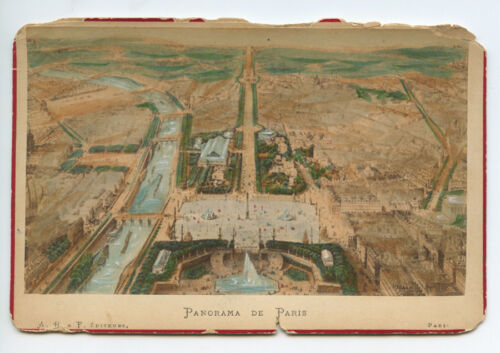 AERIAL VIEW, PARIS, FRANCE, TINTED - VINTAGE STEREOVIEW