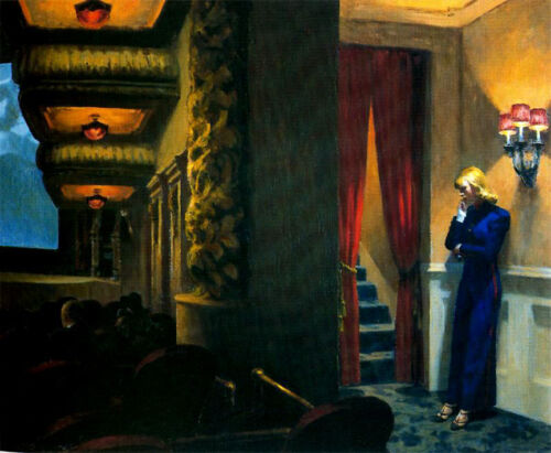 New York Movie  by Edward Hopper   Giclee Canvas Print Repro