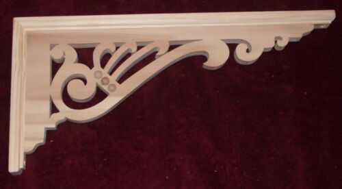 """Victorian Wood Gingerbread {19"""" x 9"""" } Porch House Trim Bracket #54 ~ by  PLD"""