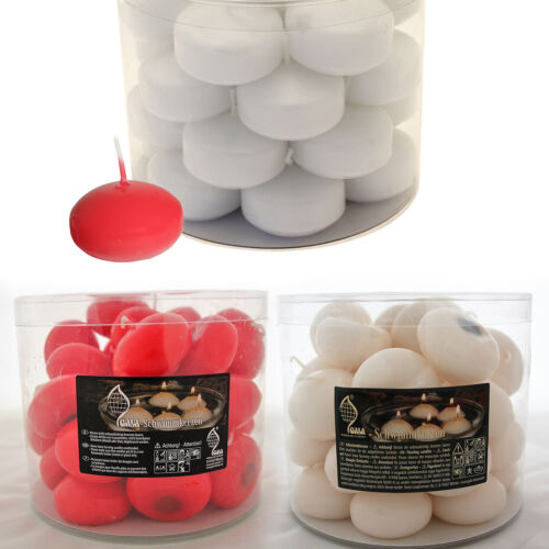 Tub of 33 Floating Candles for Home/Events/Restaurants. 5 Hour Burn Time