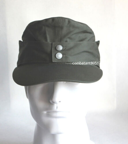 Collectable WWII German Army Elite EM M43 Summer Panzer Field Cap Hat GreenGermany - 156432
