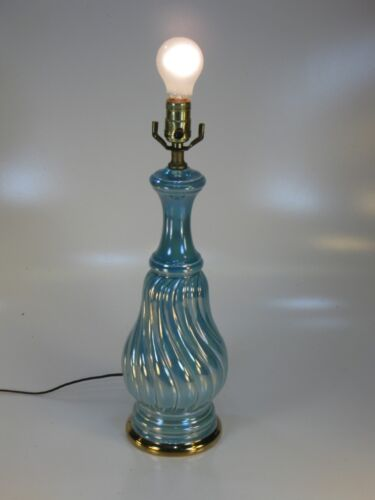 NEOCLASSICAL PALE BLUE LUSTER TABLE LAMP