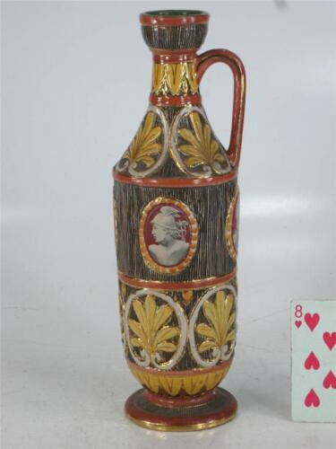 Pitcher Classical Italy Pottery Hand Made, Panted & Transfer, Bust, Figurative
