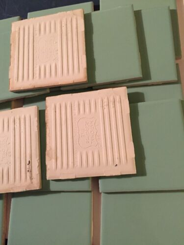 MINT GREEN 60's NOS Vintage Ceramic Tile 20 PCS Restoration Tile USA   A12
