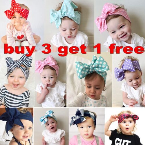 Kids Girl Baby Toddler Bow Headband Hair Band Accessories Headwear Head Wrap&*$