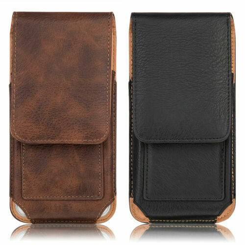 For iPhone 11 Pro Max Xs Max Vertical Leather Case Holster Pouch Belt Clip Cover