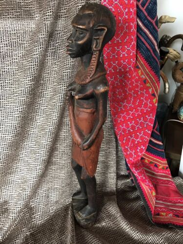 Old African Carved Wooden Figurine …beautiful aged patina