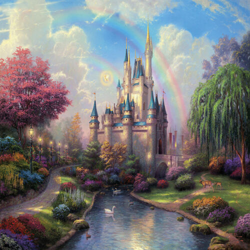 Fairytale Castle River Baby Photography Background 6x6ft Vinyl Photo Backdrops