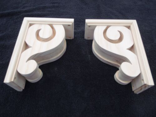 "Victorian Gingerbread Wood Corbel { 9"" x 6 1/2"" } Bracket #5 ~ PAIR ~ by  PLD"
