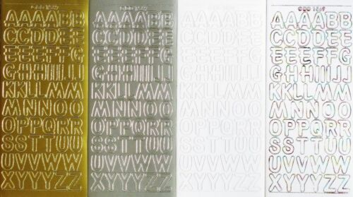 HOLOGRAPHIC 1.8cm Uppercase ALPHABETS PEEL OFF STICKERS Capital Letters Alphabet