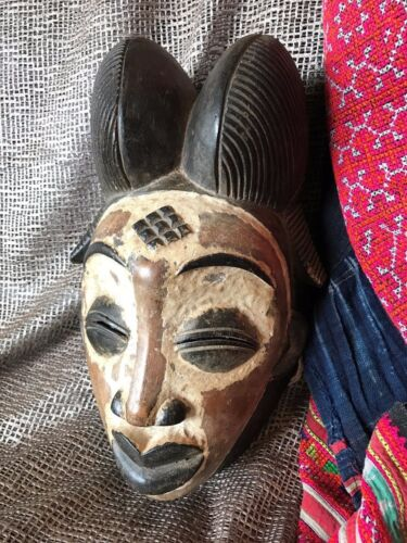 Old African Carved Wooden Mask …beautiful aged patina, great collection piece...