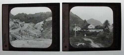 SET OF 2 - PHOTO ON GLASS, ST. LUCIA
