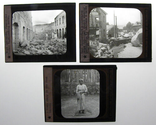 SET OF 3 - PHOTO ON GLASS, WEST INDIES