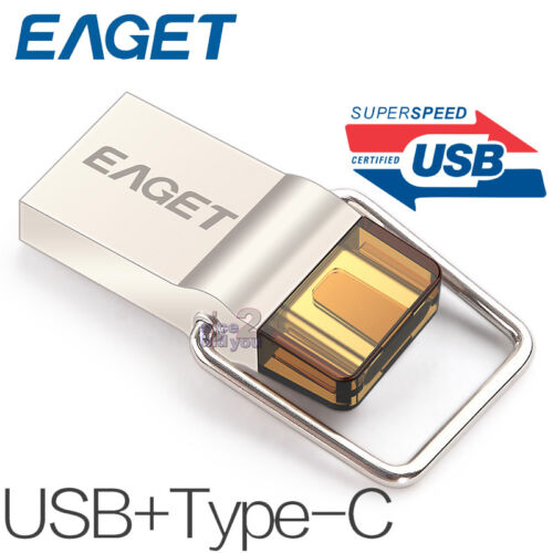 EAGET CU10 32GB Type-C 3.1 USB3.0 Micro USB OTG Flash Drive Mobile Memory Stick