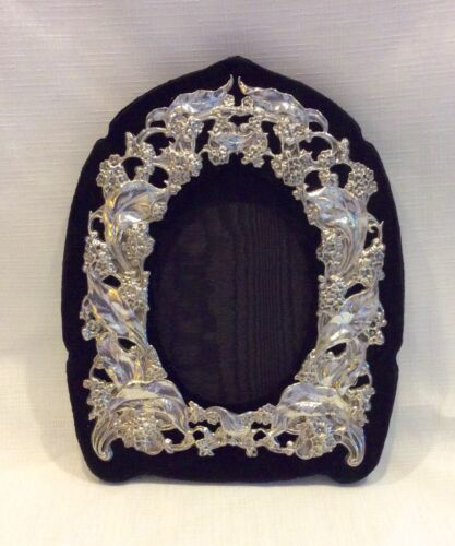 Antique Gorham Sterling Silver Photograph Frame Flowers & Leaves